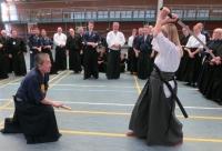 In der letzten Zehntelsekunde wehrt Ohtani Sensei einen Angriff ab