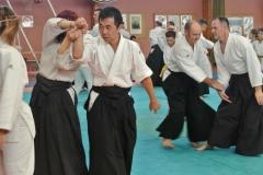 Der japanische Meister Abe zeigt wirkungsvolle Techniken mit großer Eleganz.