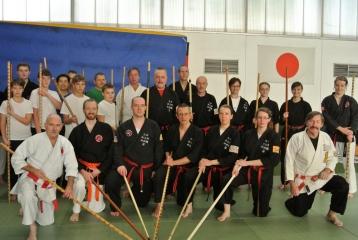 Bojutsu Training unterrichtet von Hans-D.Rauscher, Prof.Dr. H.Kogel und T.Rönicke