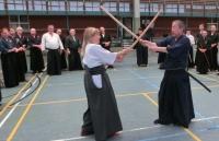 Ohtani Sensei und Christine Rauscher Sensei demonstrierten Kumi-Tachi Iaido-Techniken