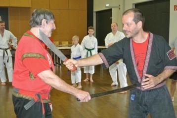 Combat Arnis mit Hans-D.Rauscher und Christian Kehl die Teilnehmer