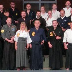 Die Seminarteilnehmer übten mit unerhörtem Einsatz und starken, echten Samurai Geist.