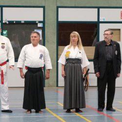 Von rechts die Hauptreferenten: Hiromichi Ohtani, Hans-D.Rauscher, Christine Rauscher, Ralf Oschmann, Frank Kleinschumachers, R.Blankenstein